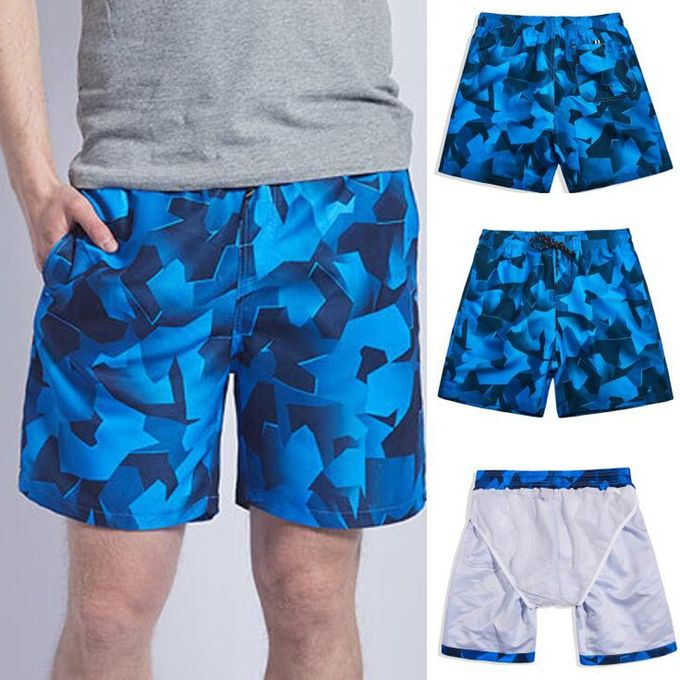 12db05d597 (Xiuxingzi) Men's Swim Drawstring Trunks Quick Dry Beach Surfing Running Swimming  Shorts
