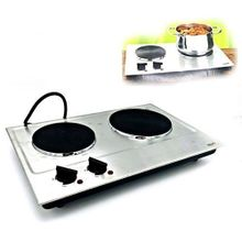 German Stainless Steel Electric Dual Hot Plate Cooker - 2500 W