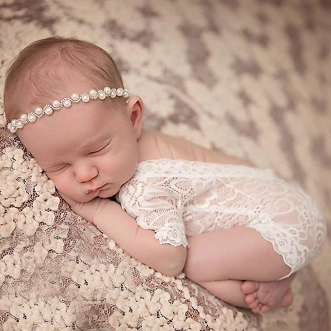 88a99c9d8 ... Newborn Infant Baby Girl Photography Prop Lace Romper Jumpsuit Princess  Clothes For Baby