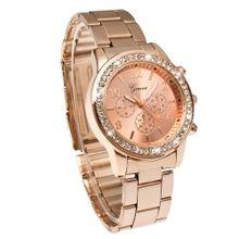 25024b699 Geneva Bling Crystal Women Girl Unisex Stainless Steel Quartz Wrist Watch