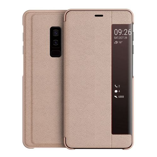 new product 3d606 8888c Galaxy S9+ Case,Smart Window Touch Flip Case/Magnetic Closure/PC Bumper/360  Degrees Protection Cover For Samsung Galaxy S9+/Galaxy S9 Plus 6.2