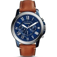 FS5151 Men's Grant Watch Analog Leather Band - Brown