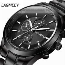 b50f3537d65d8 Hiamok Fashion Men  039 s Watch Stainless Steel Analog Quartz Waterproof  Watches WristWatch