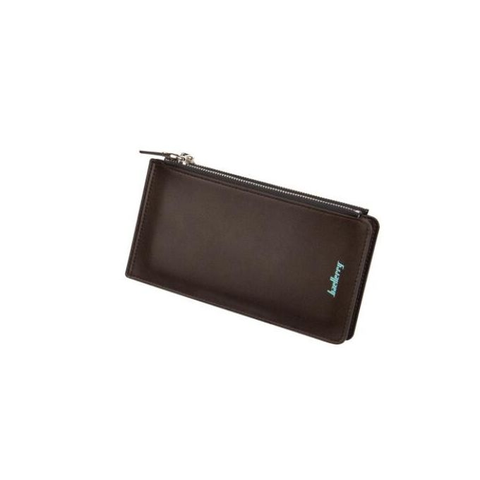3c348e153 Multi-function Man Purse Long Zip Fastener Card Package More Screens Hand  Bag
