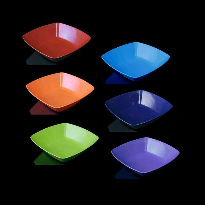 طقم بوله مربعة وسط الراينبو – 6 قطع – احمر-برتقالي-بستاج-ازرق لبني-كحلي-موف فاتح –  مصر