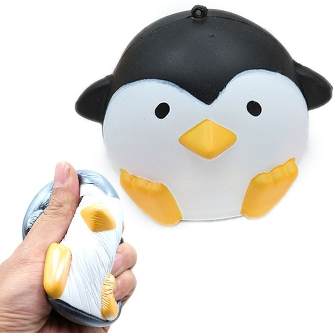 Simulation Penguin Shape Squishy Slow Rising Toy Slow Rebound PU Stress Reliever Squeeze Toy(Black) –  مصر