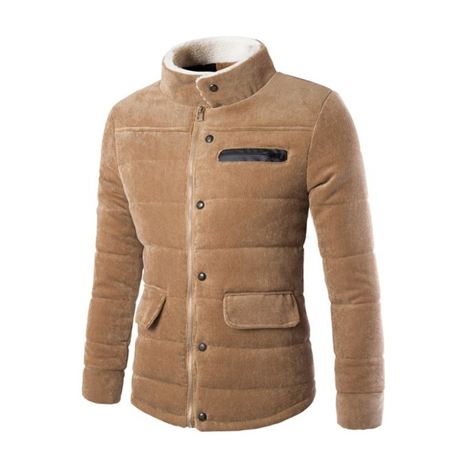 Sale On Zacard Men Corduroy Clothing Coat Warm Jacket Stand Up
