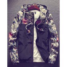 d91ceb9c6 Floral Bomber Jacket Men Hip Hop Slim Fit Flowers Pilot Bomber Jacket Coat  Men'