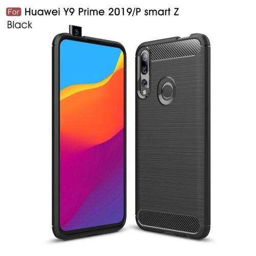 Brushed Texture Carbon Fiber TPU Case For Huawei Y9 Prime 2019 / P Smart  Z(Black)