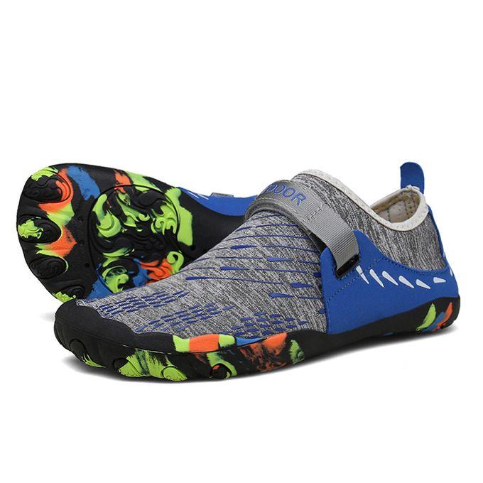 3a2545459f06fb ... Xiuxingzi Summer Casual Men's Flat Water Shoes Pool Beach Swim Slip-On Creek  Diving Shoes
