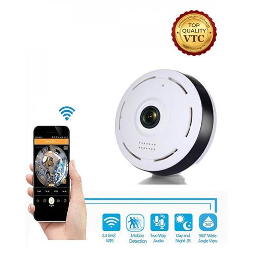 360 Degree Panoramic Camera Wifi Indoor IP Camera Wireless Fisheye Baby  Monitor With Night Vision 2-way-audio Security Camera