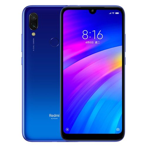 موبايل شاومي ريدمي 7 - 6.26 inch 32GB/3GB Dual SIM 4G Mobile Phone -Comet Blue