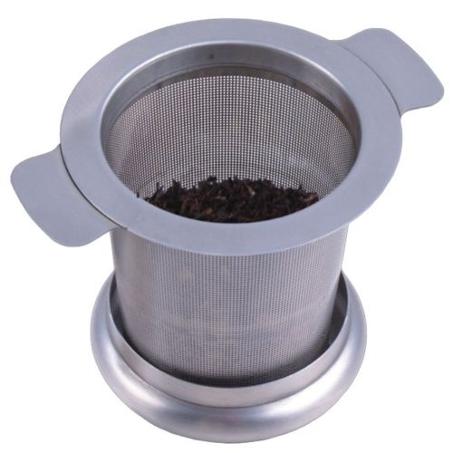 Leadsmart Tea Strainer Stainless Steel Water Filter with Double Handles for Hanging on Teapots Mugs