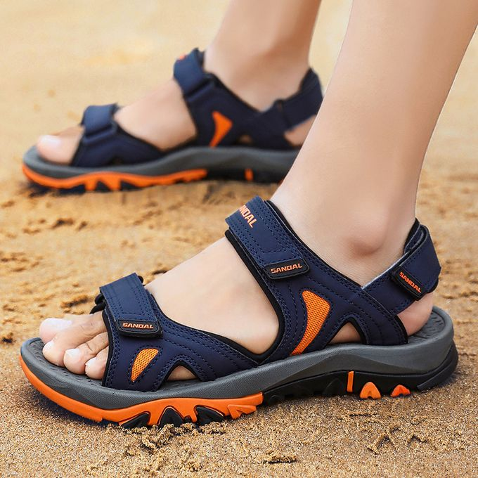 Hiking Men's For Walking Leather Pu Open Beach Outdoor Strap Toe Sandals CrWQxBedo