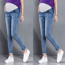 0b794c69568e2 Checkeck Pregnant Woman Ripped Jeans Maternity Pants Trousers Nursing Prop  Belly Legging