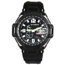 fe93179f5c038 SYNOKE Men Waterproof Double Digital Quartz LED Sports Watch LBQ