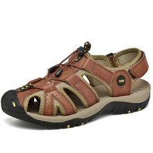 cdd8a7f3b Men  039 s Sports Sandals Leather Athletic Fisherman Beach Shoes Traveling