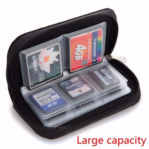 Generic CF Micro SD SDHC MMC Memory Card Holder Storage Carry Pouch Wallet Case Black