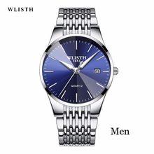 f491e7687 WLISTH Brand Luxury Men's Quartz Watch Men Waterproof Ultra Thin  Analog Clock