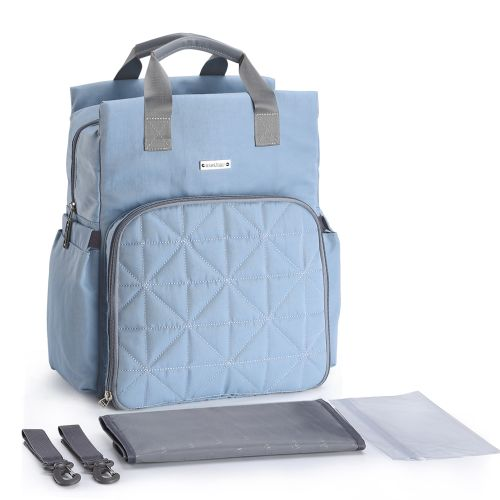 d65b08eaf23e Diaper Bag Backpack Multi-Function Waterproof Large Capacity Nappy Bags For  Baby Care Travel With Stroller Strap Machine Washable Blue