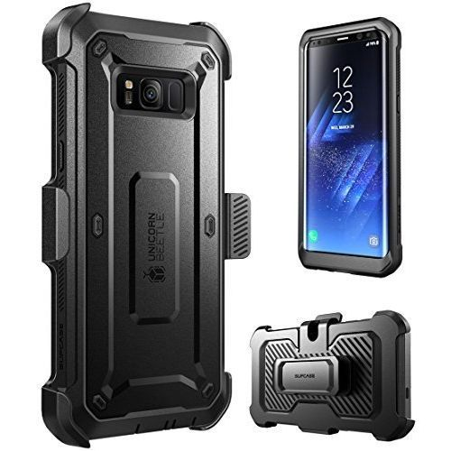 new concept 68537 24d1c Galaxy S8 Case Full-body Rugged Case Cover With Rotatable Belt Clip Unicorn  Beetle PRO Series(Black)
