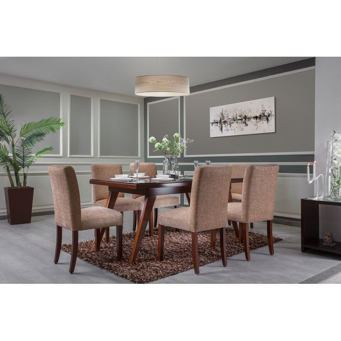Sale On Natural Wood Dining Table + 6 Chairs