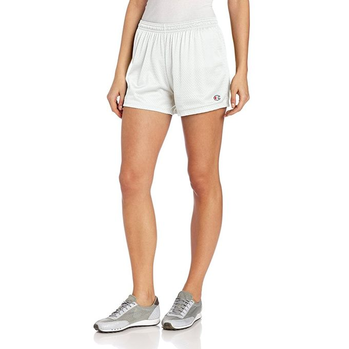 Champion Womens Mesh Short [White, Medium]