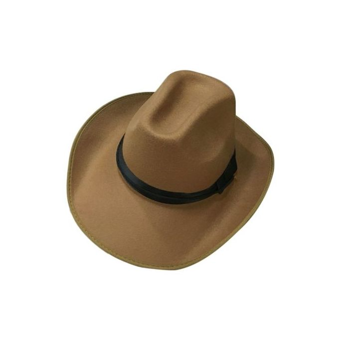 e97b07465b3740 Adjustable Rope Male Female Cashmere Caps Cowboy Cowgirl Hats Summer Sun Hat -brown