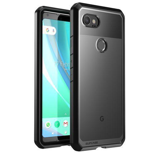 release date 0a02f 1c7ec Google Pixel 2 XL Case Premium Hybrid TPU And PC Protective Clear Case  Transparent Back Cover (Black)