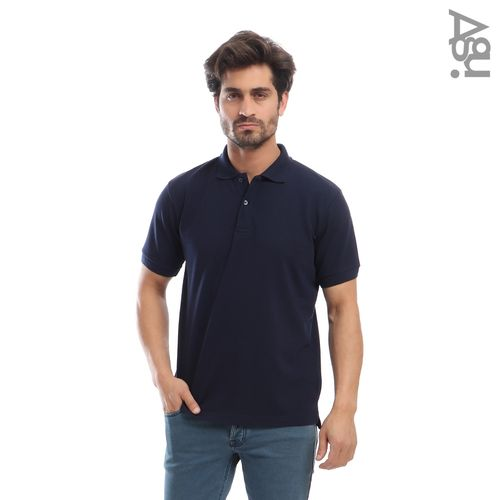 Solid Men Polo - Navy Blue