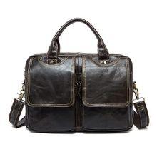 7e15df7381b54 WESTAL الرجال حقائب جلد طبيعي حقيبة ساع الرجال الجلود حقيبة لابتوب 14 أكياس  للمستند الأعمال الذكور