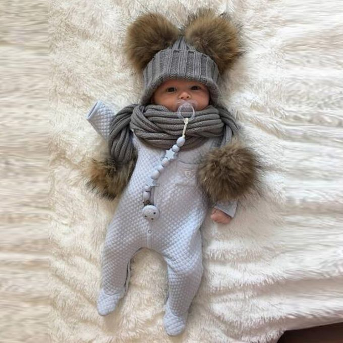 623efc25d0d Sale on Baby Cute Winter Kids Baby Hats Keep Warm Set Cute Hat Scarf ...