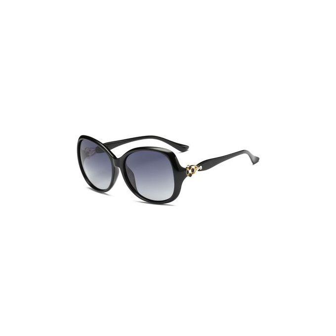Vintage Metal Floral Embellished Oversized Sunglasses – PHOTO BLACK –  مصر
