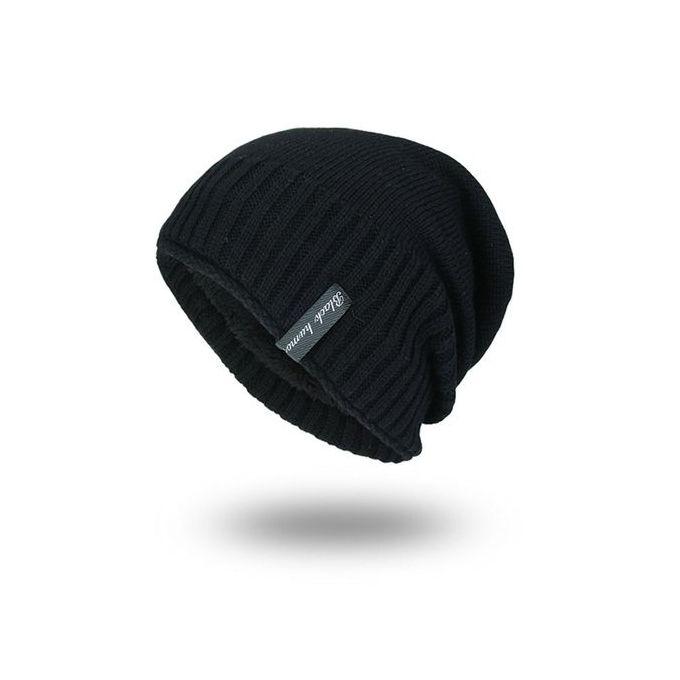 3ab59e4f00d Korean Style Men Women Winter Beanie Solid Color Hat Unisex Plain Knitting  Cap-black ...