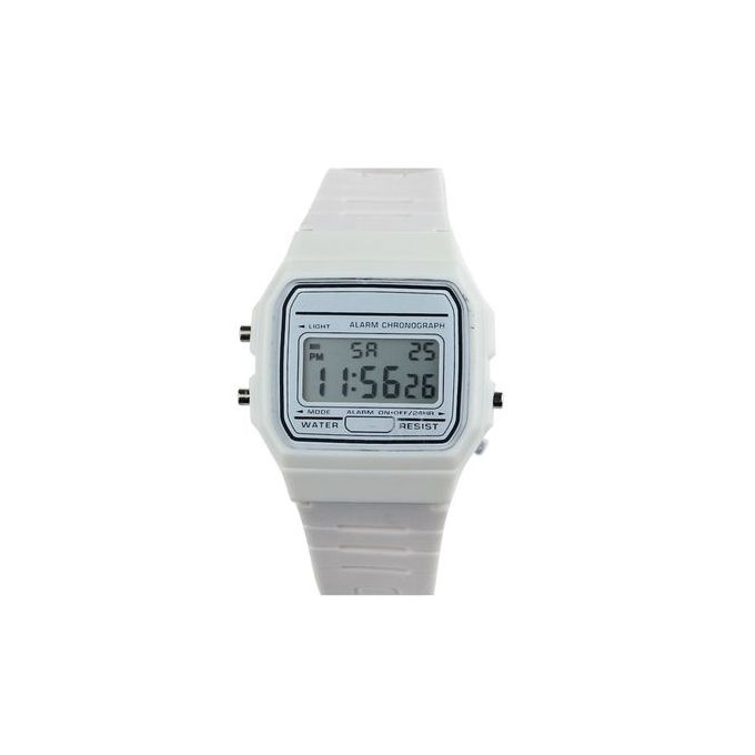 3d64aa8f0307 Fovibery New Silicone Rubber Strap Retro Vintage Digital Watch Boys Girls  Mens WH