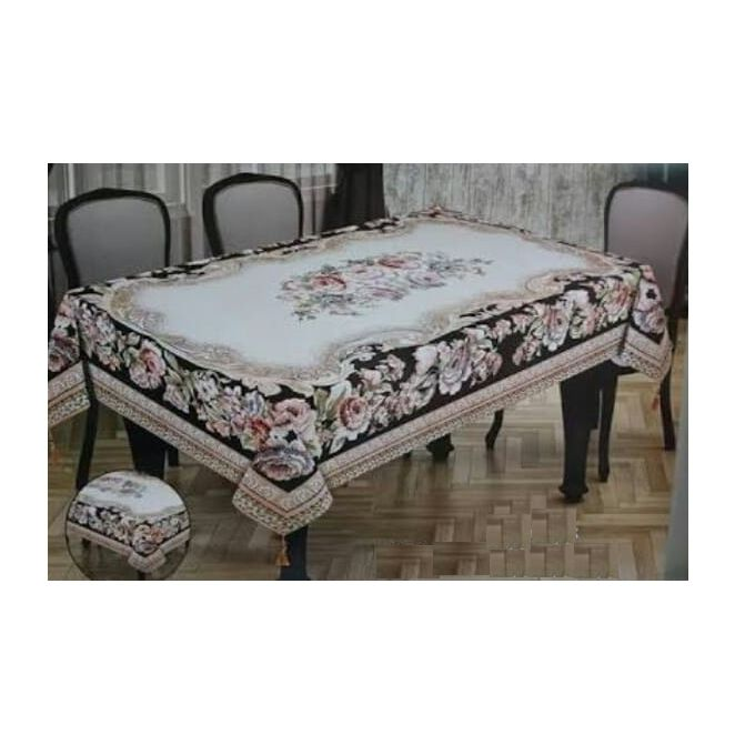 Floral Table Cloth – 240*160 Cm – Multicolored  –  مصر