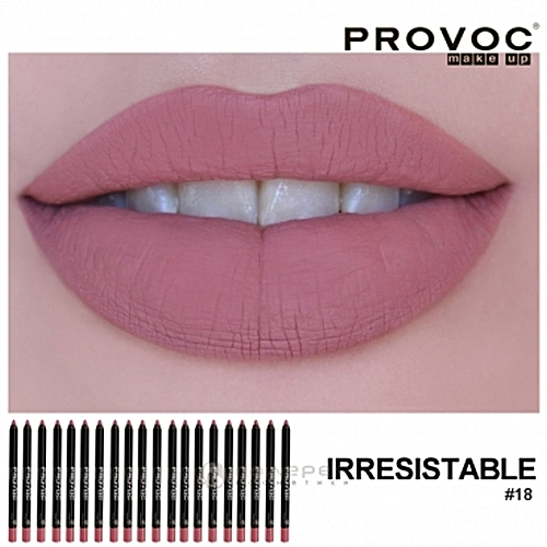 Provoc Semi Permanent Gel Lip Liner - 18