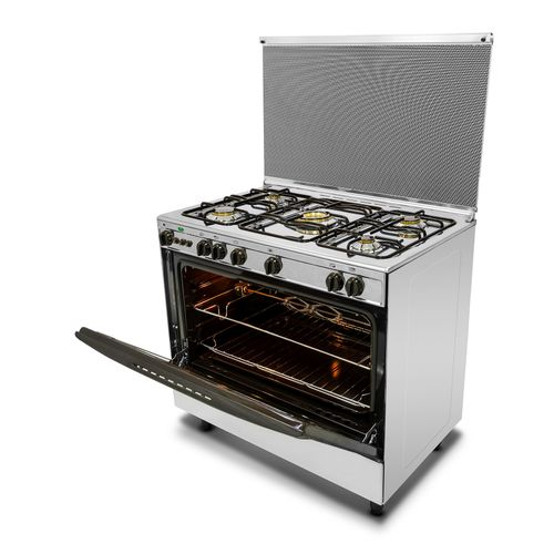 9700 Stainless Steel Gas Cooker - 5 Burners