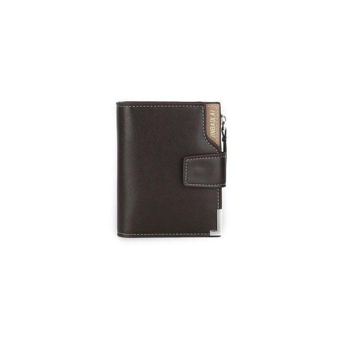 2248fb4cdbb1 Fovibery Men Leather Zipper Bifold ID Credit Card Holder Clutch Billfold  Purse Wallet