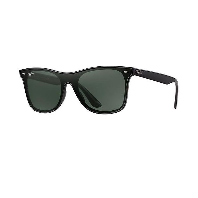 3b277fe8a Ray-Ban BLAZE WAYFARER RB 4440N Matte BLACK/G- CLASSIC GREEN Unisex  Sunglasses