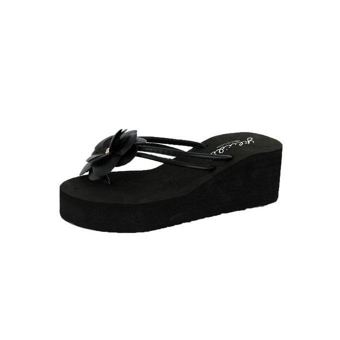 6237926ce Bliccol High Heel Shoes Summer Women Platform Bath Slippers Wedge Beach  Slope Flops Beach Slippers Shoes