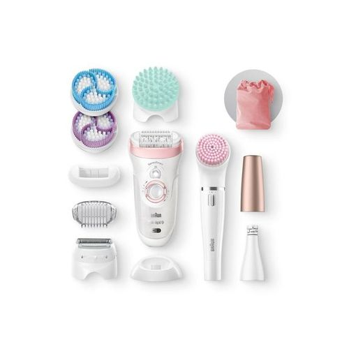 Silk-epil Beauty Set 9 9/985 Wet & Dry Epilator With 8 Extras - White