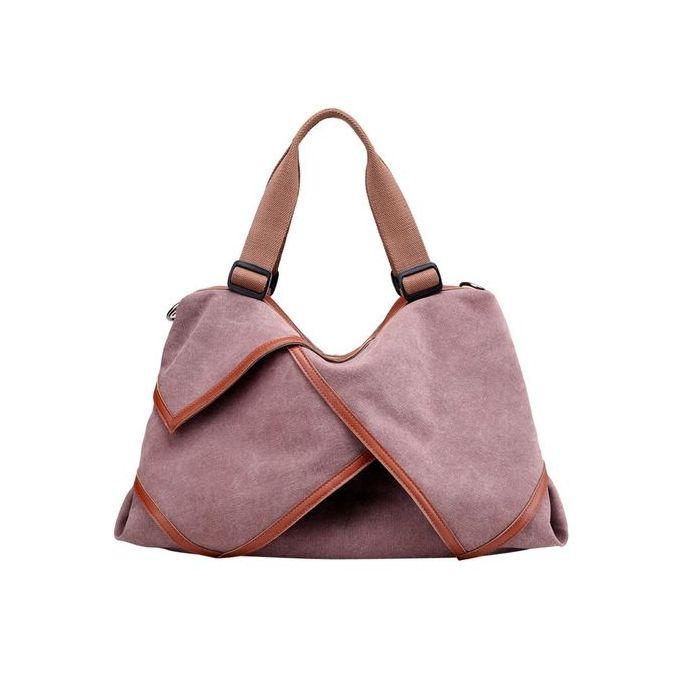 5a28daf1cc927 Women Canvas Crossbody Bags Vintage Canvas Tote Handbags Big Bag  Purple-purple - Jumia مصر