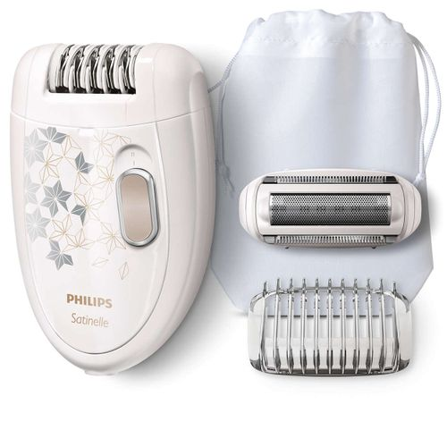 HP6423 2in1 Satinelle Epilator with Shaving Head - White