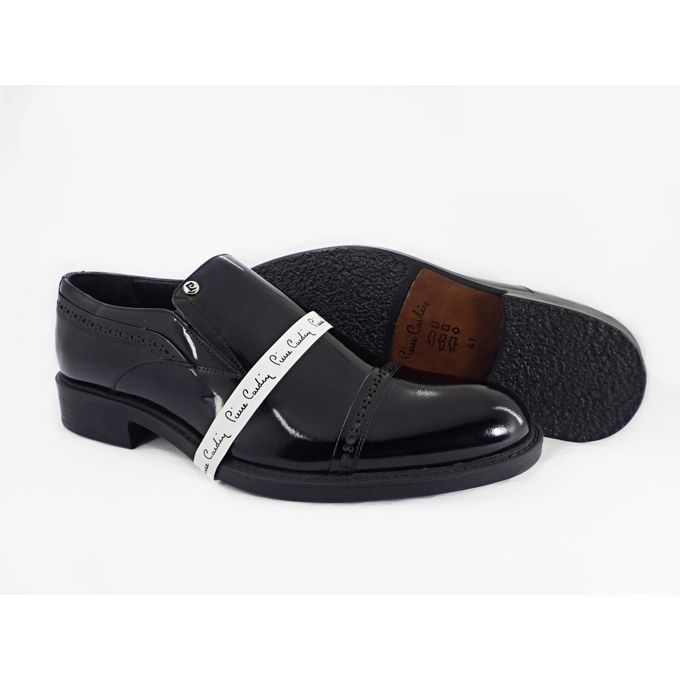 a93ba60ca0 Sale on Genuine Leather Classic Slip On Patent Shoes For Men - Black ...