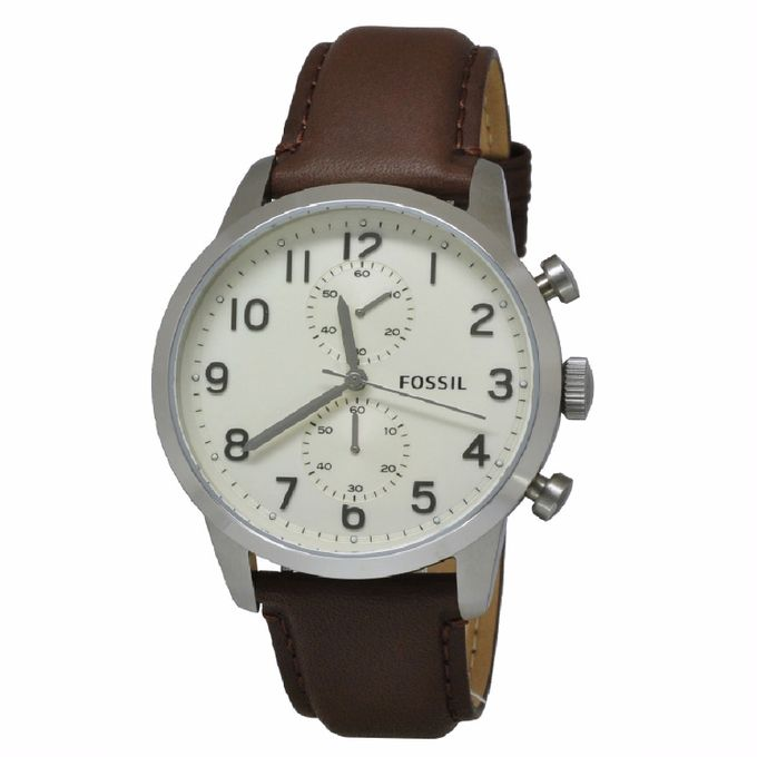 a5a7c3910 Fossil Men's FS4872 Townsman Stainless Steel Watch With Brown Leather Band