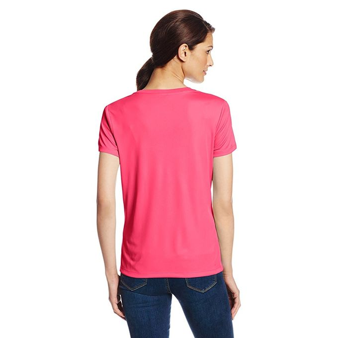 Hanes Sport Womens Cool DRI Performance V-Neck Tee [Wow Pink, X-Large]