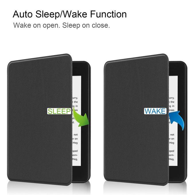 Hiamok For New Kindle Paperwhite 4 2018 Smart Thin Leather Sleep Awake Flip  Cover Case