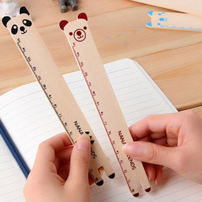 10 PCS Creative Stationery Wooden Cartoon Animal Pattern Office School Student Measuring Tools Stationery Ruler, Random Color Delivery –  مصر