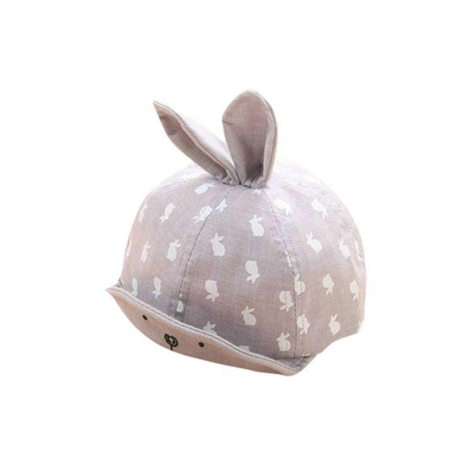f7b5e8127 Baby Beanie Boys Girls Cotton Hat Children Rabbit Print Hats Baseball Cap GY